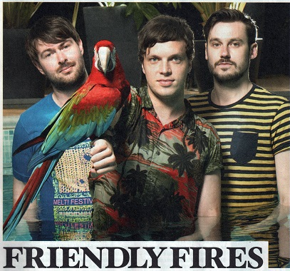 Freindly Fires with a parrot newspaper cutting